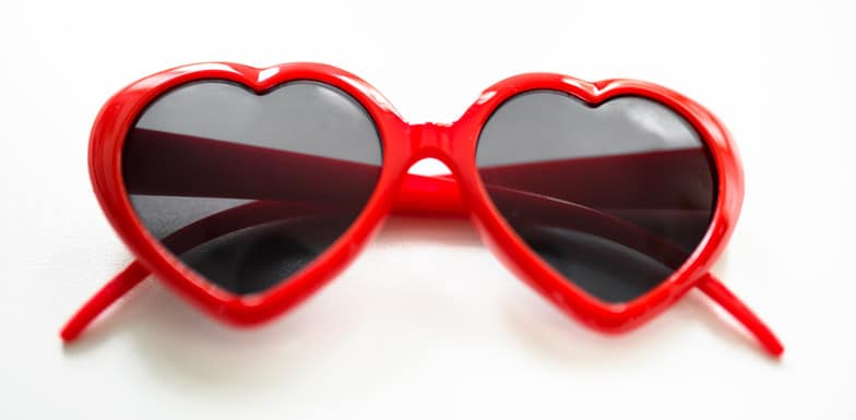 heart shape sunglasses for st. valentine