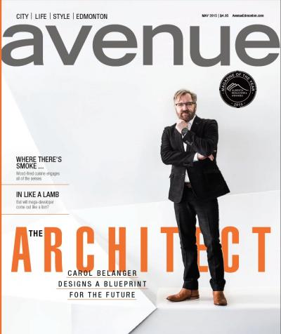cover of May 2015 issue of Avenue Edmonton