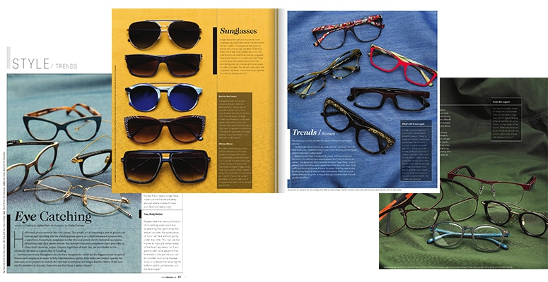 Avenue Magazine Fashion Eyewear