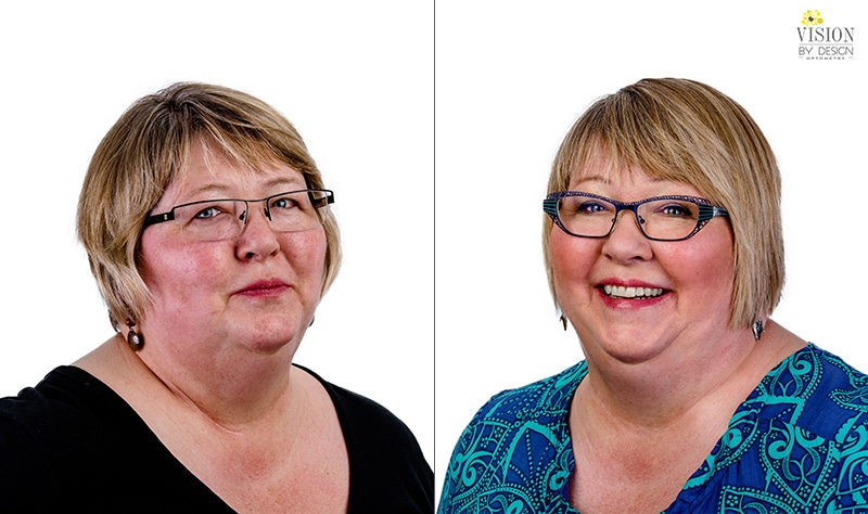 before and after custom eyewear makeover